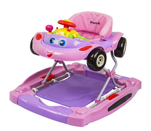 Dream On Me Ragtop 2 In 1 Walker and Rocker, Pink by Dream On Me