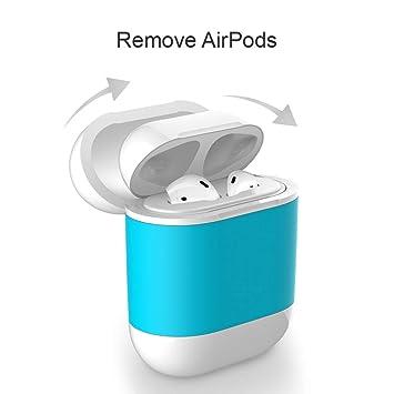 amzWOW Funda airpods y airpods 2 Auriculares Apple, Cubierta Protectora de Carga inalámbrica QI para Apple AirPods, Compatible con Cualquier Cargador ...