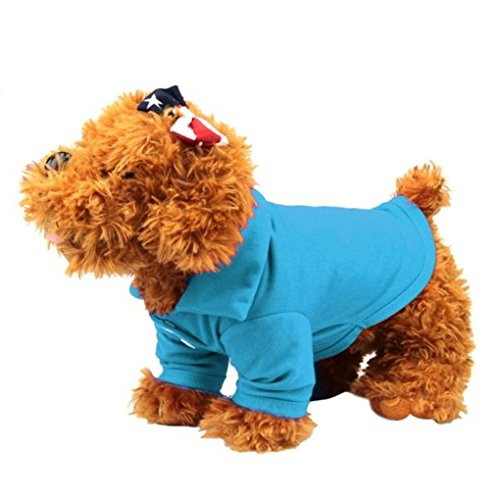 Hihihappy Lovely Clothes,Summer Polo Shirt T Shirt for Pets Small Dog Cat Clothes Dog Costume Apparel (XS, Blue) OrangeMedium