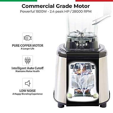 Balzano 1800W Professional Commercial Grade Power Blender (Silver) 13