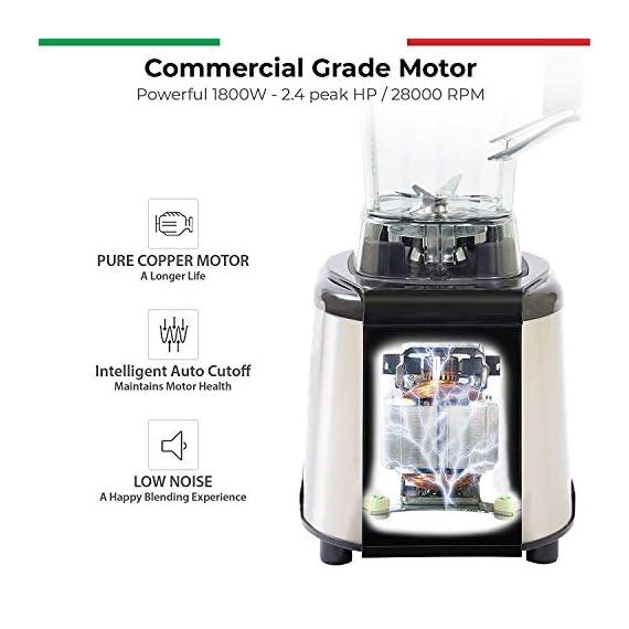 Balzano 1800W Professional Commercial Grade Power Blender (Silver) 5