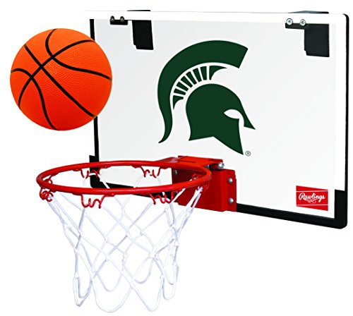 NCAA Michigan State Spartans 00673038111NCAA Game On Polycarbonate Hoop Set (All Team Options), Green, Youth
