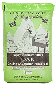 Country Boy's 40 lbs Hickory/Oak Wood Barbecue Grilling Smoker Pellets., Oak