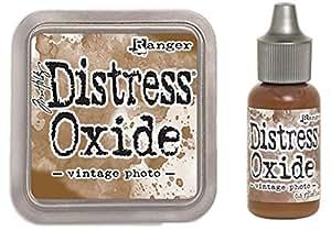 SPECIAL BUNDLE Ranger Tim Holtz Distress Oxide Ink Pad VINTAGE PHOTO + Reinker