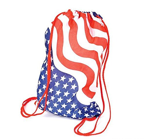 DollarItemDirect 15'' COTTON STARS AND STRIPES BACKPACK, Case of 72 by DollarItemDirect