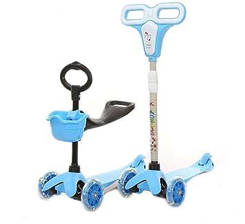 dearbuy Mini 3 en 1 - Patinete de 3 ruedas con ruedas Ride ...