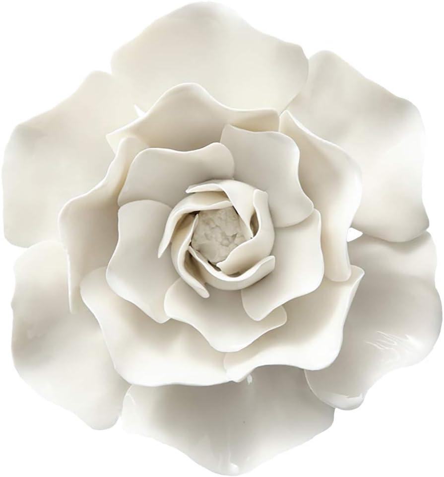 Sales ALYCASO Ceramic Flower overseas Wall Artificial 3D Décor Art