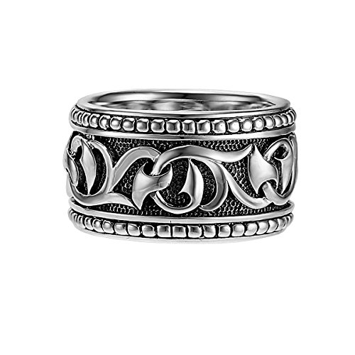 An Unkaged Sparta Engraved Knotted Vine Band Style Ring - Scott Kay Mens Sterling Silver