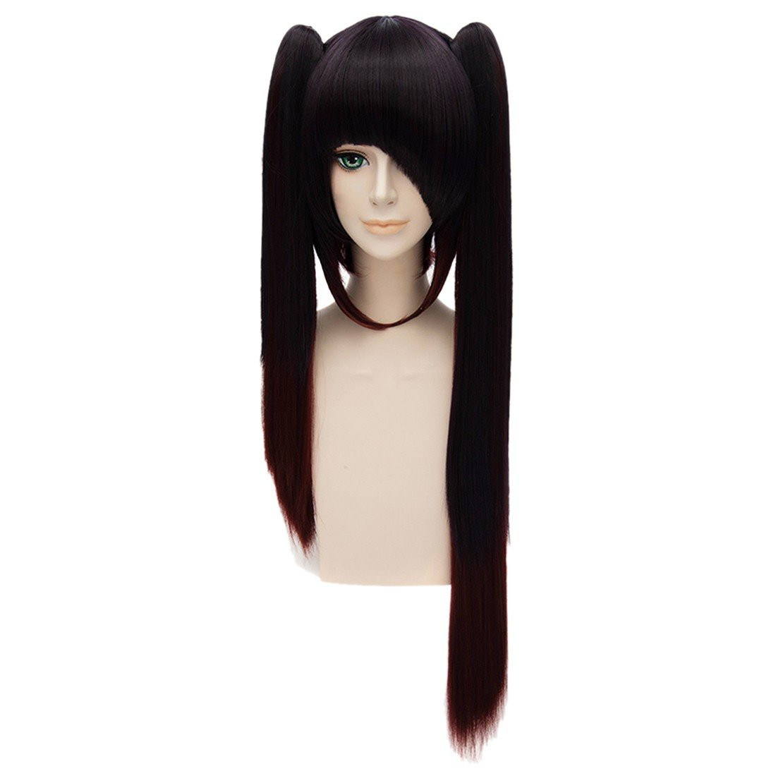 Tokisaki Kurumi Cosplay Anime Women Long Straight Bangs Ponytail Women Hair Wigs QIYUN.Z W111A1140/1ONE