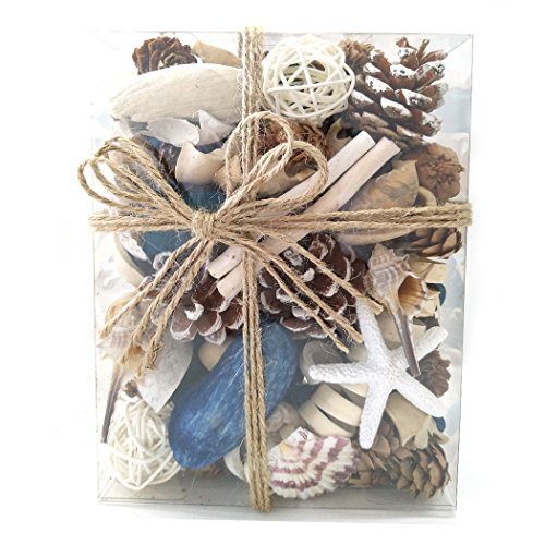 Qingbei Rina Gifts, Potpourri,including Sea Shell,Conch,Starfish and Ocean Scent,18.3 (Seashell Ball)