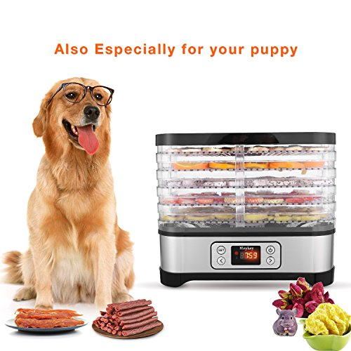Food Dehydrator Machine, Digital Timer and Temperature Control, 5 Trays, for Jerky/Meat/Beef/Fruit/Vegetable, BPA Free by Homdox (Image #6)