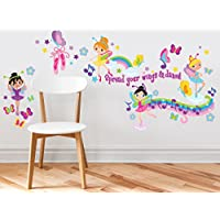 Sunny Decals Ballerina Fabric Wall Decals (Set of 4)