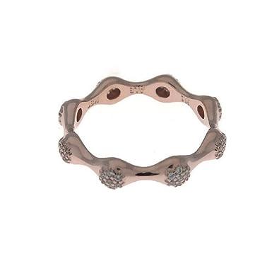 3516606e0 Amazon.com: PANDORA Modern LovePods Ring, Rose Gold & Clear CZ ...