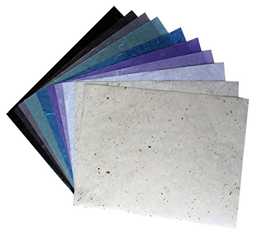 10 Mulberry Paper Sheet Design Craft Hand Made Art Tissue Japan Origami Washi Wholesale Bulk Sale Unryu Suppliers Thailand Products Card Making, By RATREE SHOP.(No03) (Washi Paper Wholesale)