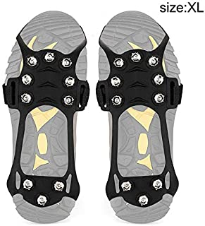 Rokoo 1 Paire Anti-dérapant 10 Crampons de Glace Crampons de Traction pour Chaussures Bottes randonnée en Plein air Escalade