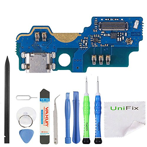 Unifix USB Charger Charging Port Dock Connector Flex Cable Mic Assembly for ZTE ZMAX Pro Z981+ Repair Toolkit