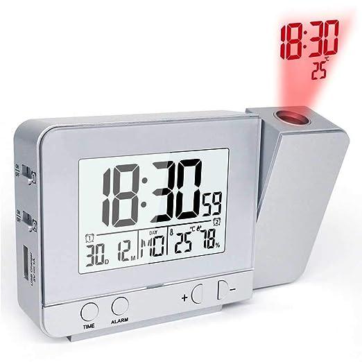 ZHD&CC Reloj Despertador Digital Despertador Proyector, Digital ...