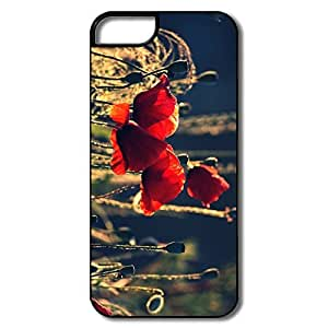 IPhone 5/5S Covers, Withered Poppies White/black Covers For IPhone 5S