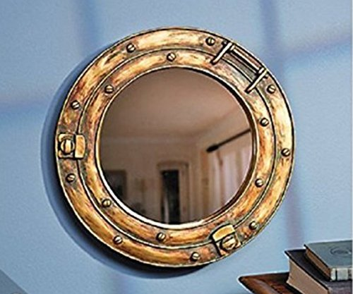 - Scorpion Nautical Ship Porthole Mirror Wall Decor 11 1/2 inch Diameter