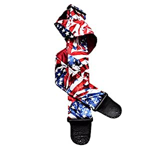 american flag patriotic handmade guitar strap red white blue waving flag musical. Black Bedroom Furniture Sets. Home Design Ideas