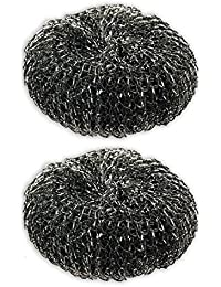 Want 2pc Heavy-Duty ALAZCO Steel Wool Barbecue Grill Cleaner Pads deal