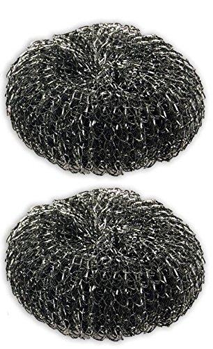 Heavy-duty alazco almohadillas de lana parrilla para barbacoa limpiador de acero fregadero de cocina