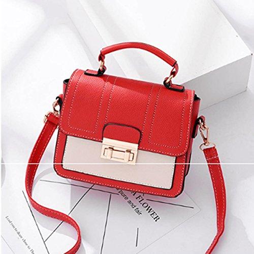 para 15cm 8cm × Mujer Gris Red × al xiaohu Bolso 20cm Hombro wfCFq