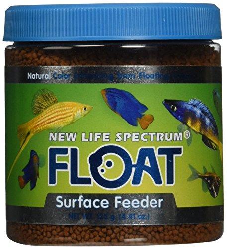 Floating Fish Food - New Life Spectrum FLOAT Surface Feeder 1mm Floating Salt/Fresh Pet Food, 120gm
