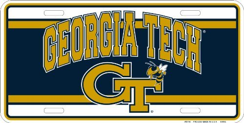 Tag City Georgia Tech Yellow Jackets Gt Metal License Plate