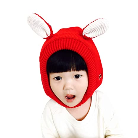 bf705ae430b Amazon.com  Yehopere Baby Hat Cute Bunny Ears Caps Toddler Earflap Beanie  Warm for Fall Winter  Clothing