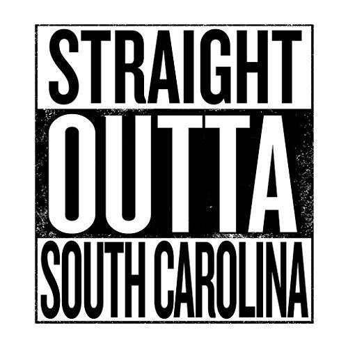 Outta Outta States South Carolina Text White White White Sweatshirt Women's US Hooded Straight Black Hwq1WxTx