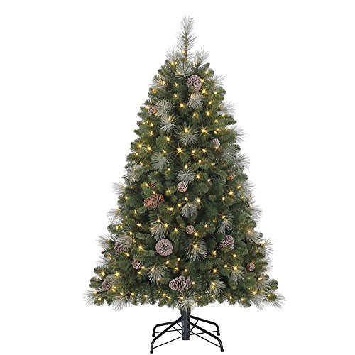 Evergreen Classics 5' Lincoln Christmas Tree with Dual LED Lights and Stand