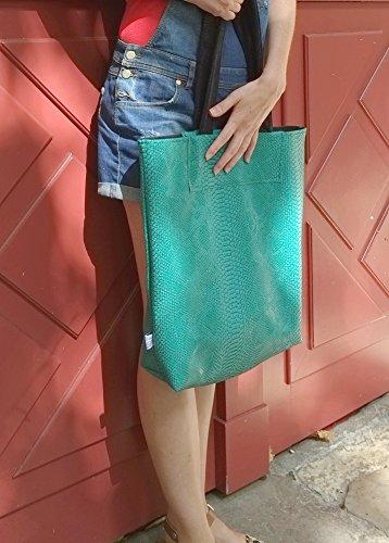dea-concept femme sac cabas cuir beige grand
