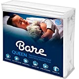 Bare Home Queen Size Premium Mattress Protector - 100% Waterproof - Vinyl Free Hypoallergenic - 10 Year Warranty - (Queen, White)