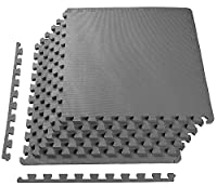 BalanceFrom Puzzle Exercise Mat with EVA Foam Interlocking Tiles by