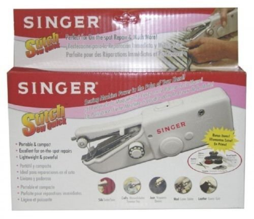 Singer Stitch Sew Quick, Hand Held Sewing Machine, (Power Lcd Flash Keychain)