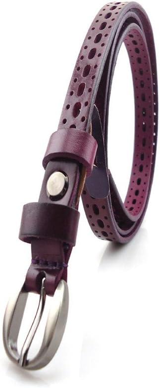 Melodycp Elegante Cinturón Reversible de Cuero para Mujer Head Layer Cowhide Leather Belt Accessories Hollow All-Match Ladies Cinturón de Ocio Elegante (tamaño : Metro)