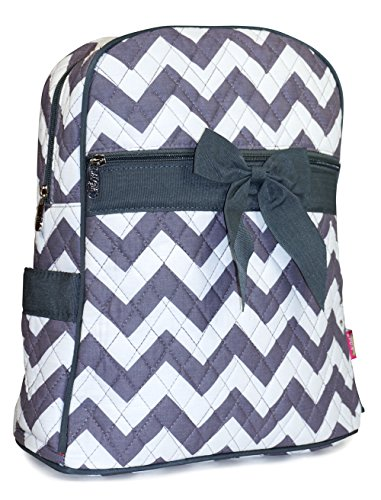 N GIL Quilted Grey Chevron Backpack