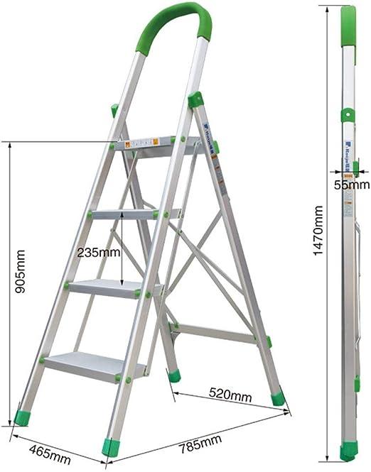 Company - Escalera multifunción, escalera verde para comer, de aleación de aluminio, superligeras, escaleras y escaleras interiores estables 46.5*5.5*147cm: Amazon.es: Oficina y papelería