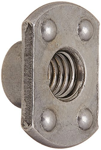 DealMux a16041100ux1650 Weld Nuts M8 Carbon steel T-Style Slab Base 4 Welded Pips Weld Nuts 25 Pcs