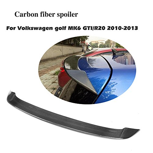Jcsportline fits Volkswagen VW Golf 6 Rear Roof Window Spoiler Wing GTI & R Hatchback 2010-2013 (Carbon Fiber) - Hatchback Carbon Fiber Spoiler