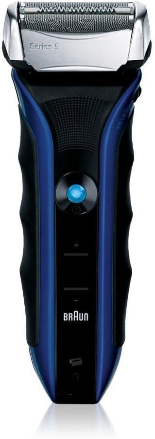 Braun Serie 5 530s / afeitadora eléctrica / Trimmer Precision / Cordless Razor / Totalmente lavable / Batería recargable de Li-Ion recargable / Incluyendo bolsa de viaje de protección / Negro / Azul: Amazon.es: Hogar