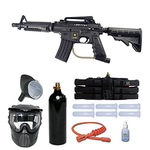 (Tippmann US Army Alpha Black Elite Tactical Paintball Gun Starter Package)