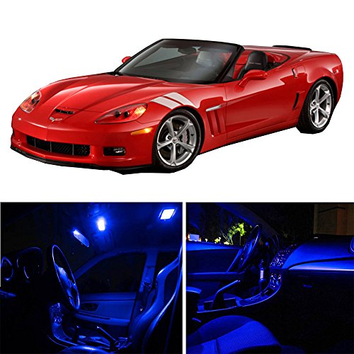 (cciyu Replacement fit for 1997-2004 Chevy Corvette C5 Interior LED Light Package Kit 10 Pack Blue Light)