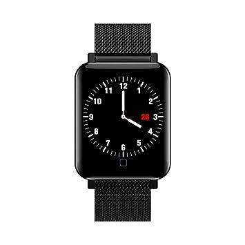 Oasics Smartwatch Resistente al Agua IP68 Smart Watch M19 Smart Watch Pulsera Deporte podómetro frecuencia cardíaca sueño tensiómetro para Android y iOS, ...