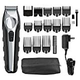Wahl Lithium Ion Total Beard Trimmer, Facial Hair Clippers with 13 Guide Combs for Easy Trimming #9888
