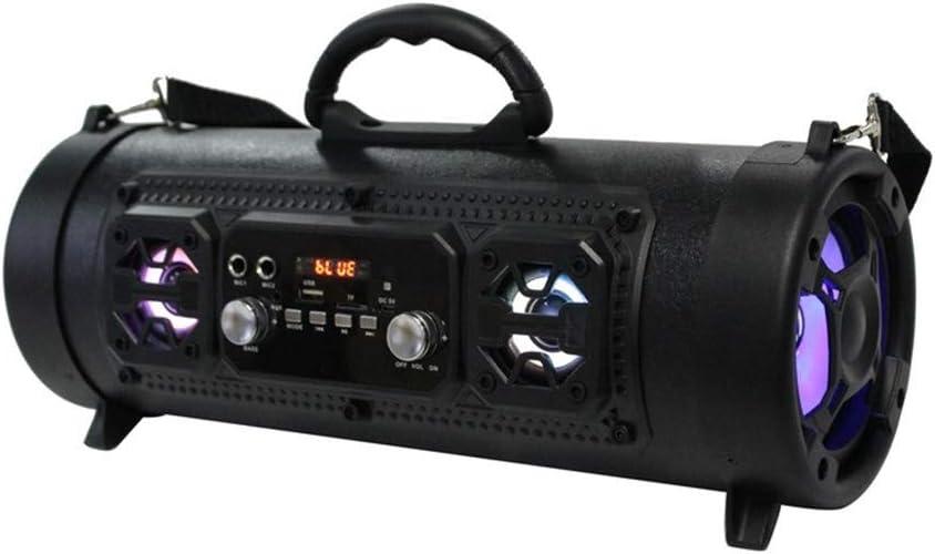 MESST Altavoz Bluetooth con luz Intermitente con Altavoz inalámbrico, función K Song subwoofer de Alta Potencia, Soporte para la conexión del teléfono móvil Bluetooth, portátil