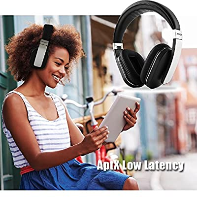 ARCHEER Wireless Bluetooth 4.1 Over Ear Headphones with Mic, Aptx Headphone Stereo Low Latency Headset for Iphone Ipod Samsung Gaming TV PC, AH07 Upgrade Version