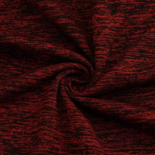 Tops Shirt Size Blouse Unie Pull Femmes Vin 5XL Manches Elecenty Rouge S RounLong Plus Couleur Un1ExFv