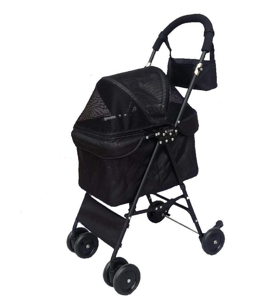 C Lozse Pet Stroller Dog Pushchair Fourwheel portable small and medium sized pet folding car